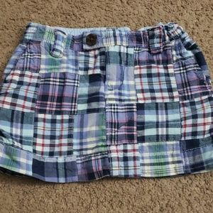 Girls Gap plaid skirt size 5